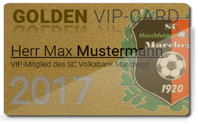 GOLDEN VIP-Card